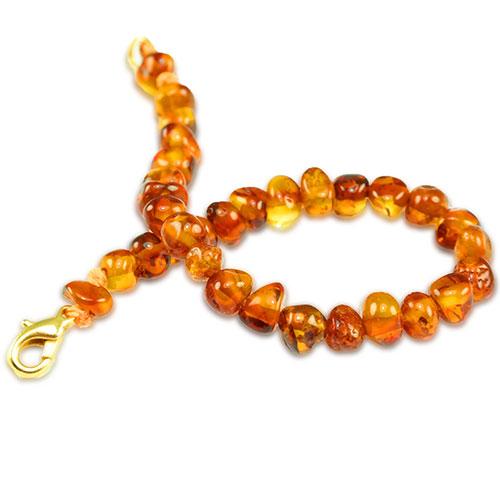 Baby barnsteen armband amber