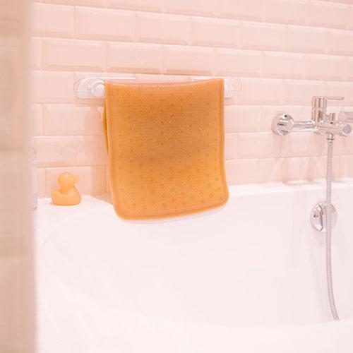Hevea antislip badmat geel 1