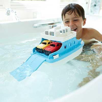 Green Toys veerboot met autootjes kind1