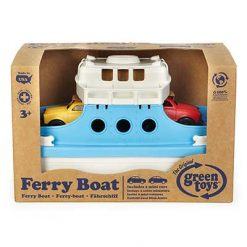 Green Toys veerboot met autootjes doos