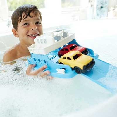 Green Toys veerboot met autootjes kind2