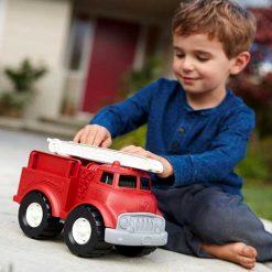Green Toys brandweerauto kind