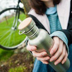 Klean Kanteen bamboe dop fles