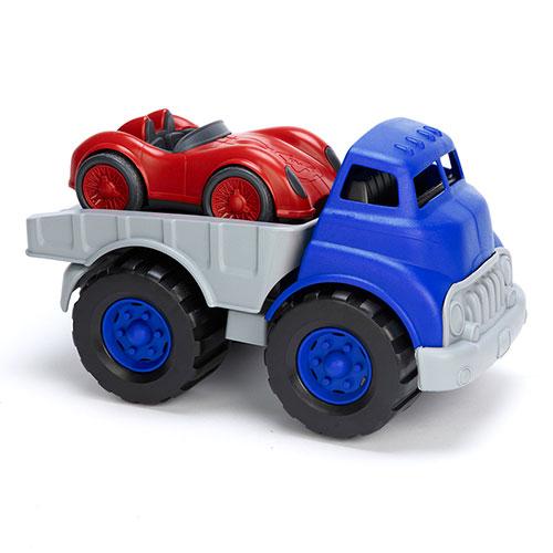 Green Toys vrachtauto met raceauto