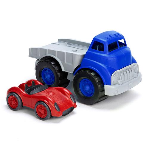 Green Toys vrachtauto met raceauto 2