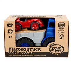 Green Toys vrachtauto met raceauto verpakking