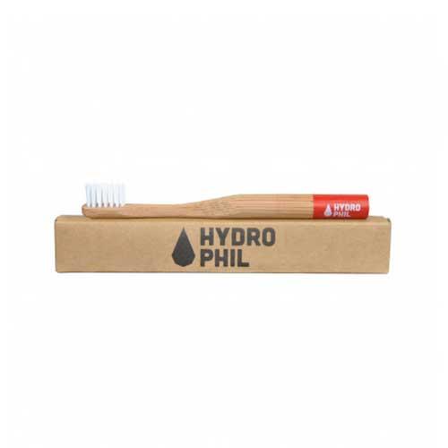 Hydrophil bamboe kindertandenborstel rood