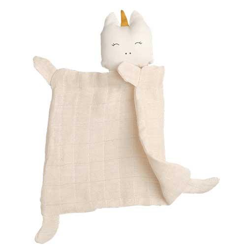 Fabelab knuffeldoekje unicorn