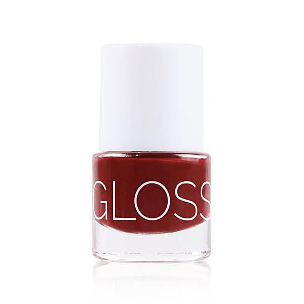 Glossworks natuurlijke nagellak aubergine dream
