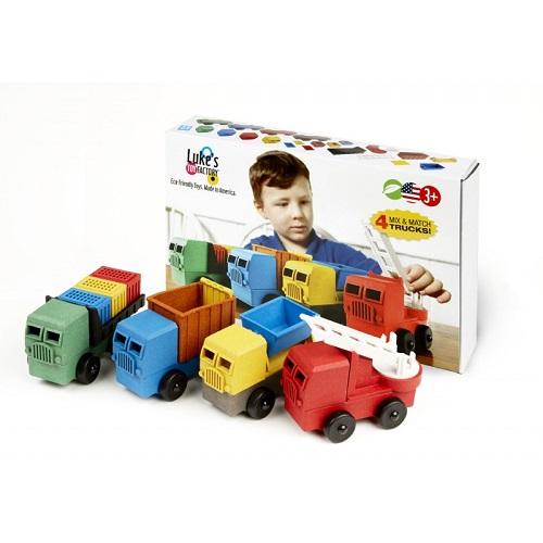 Luke's toy factory trucks 4-pack