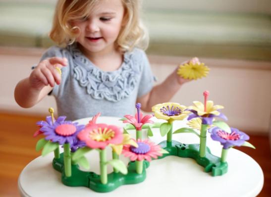 Green toys bouw een boeket kind