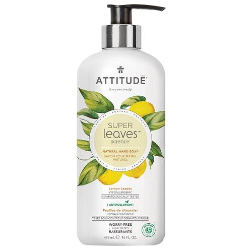 Attitude handzeep lemon leaves