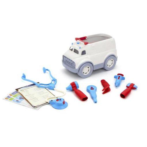 Green Toys ambulance en dokter