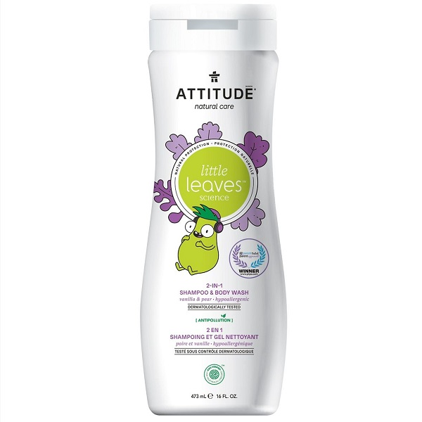 Attitude little leaves 2 in 1 shampoo vanilla pear
