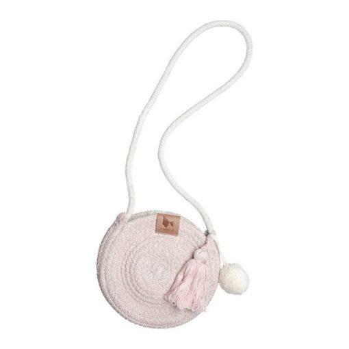 Fabelab rope purse - mauve