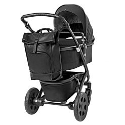 Dusq_FamilyBag_Leather_NightBlack_Stroller
