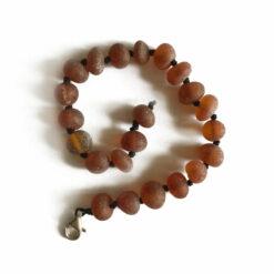 Baby armbandje barnsteen - Cognac ruw | 14 cm