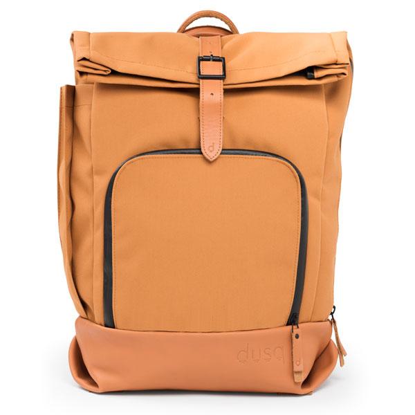 dusq-family-bag-canvas-cognac-voorkant