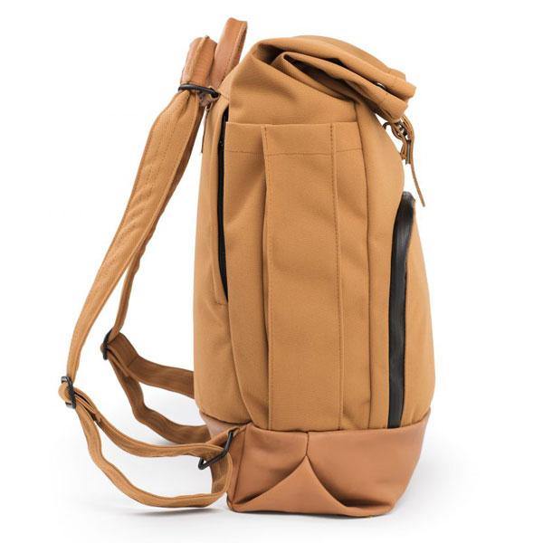 dusq-family bag-canvas-cognac-zijkant-2