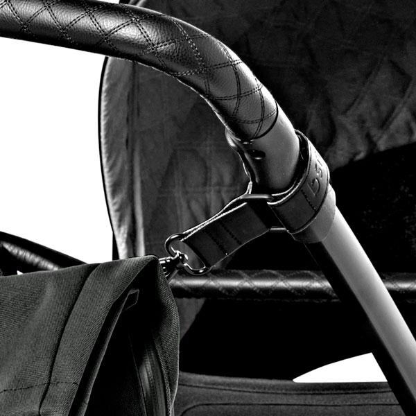 dusq-family-bag-canvas-zwart-kinderwagen-detail