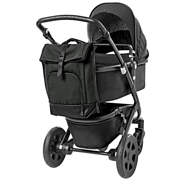dusq-family-bag-canvas-zwart-kinderwagen