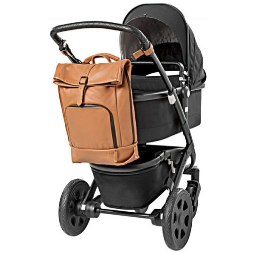 dusq-family-bag-leer-cognac-kinderwagen