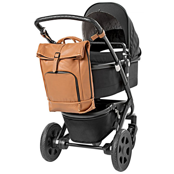 dusq-family-bag-leer-cognac-kinderwagen