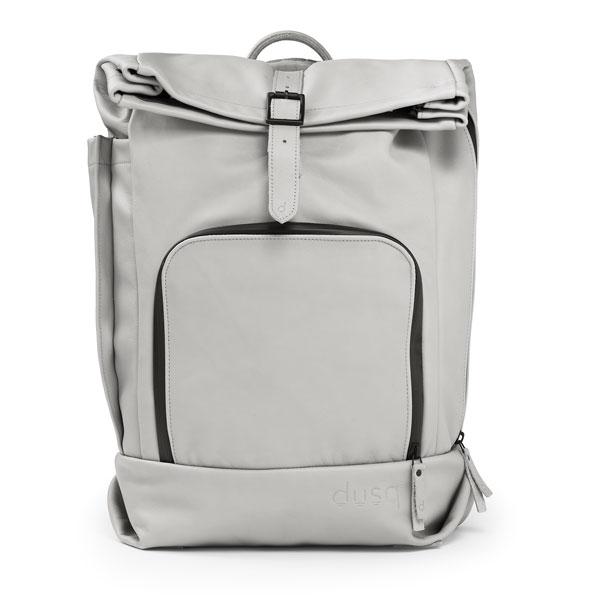 dusq-family-bag-leer-grijs-voorkant