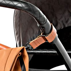 dusq-familybag-canvas-cognac-kinderwagen-detail