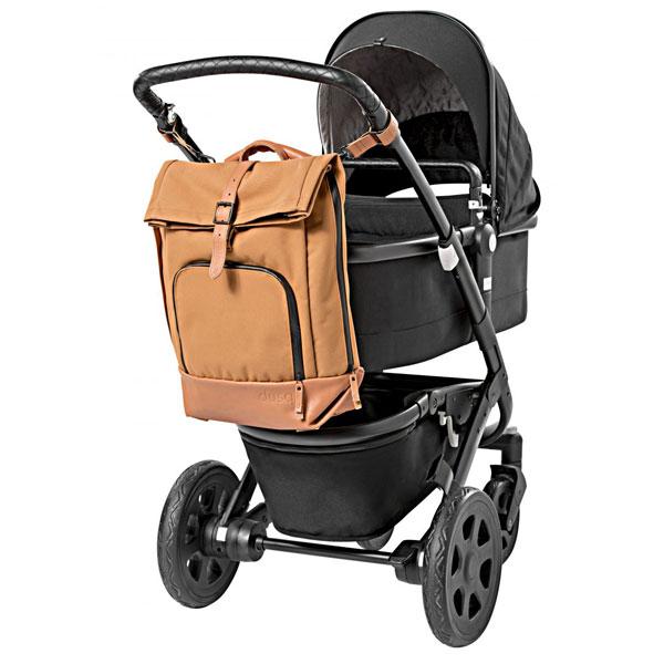 dusq-familybag-canvas-cognac-kinderwagen