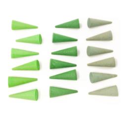 Grapat mandala green cones 1