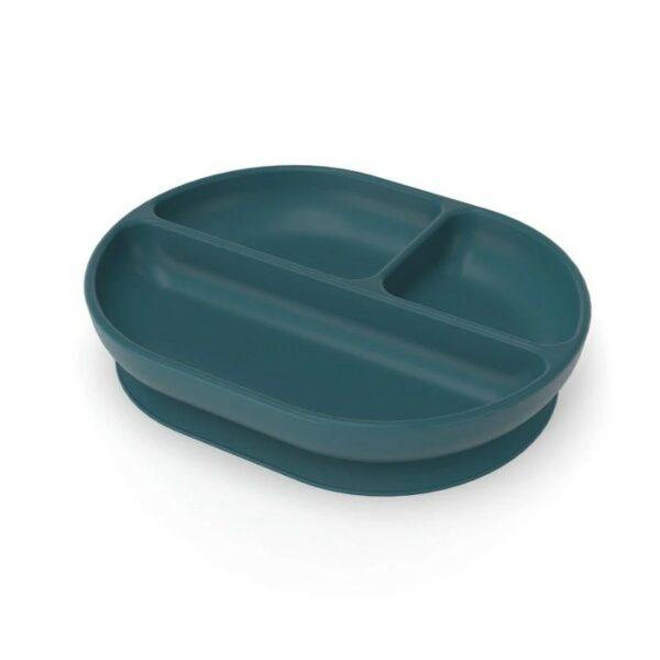 Ekobo Silicone Vakjesbord blue met zuignap