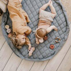 Play & Go Babymatje/Opbergzak Dusty Blue