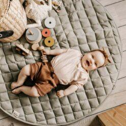 Play & Go Babymatje/Opbergzak Meadow groen