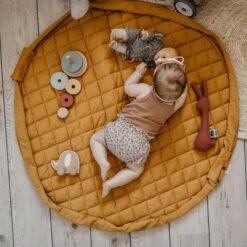 Play & Go Babymatje/Opbergzak Mosterd